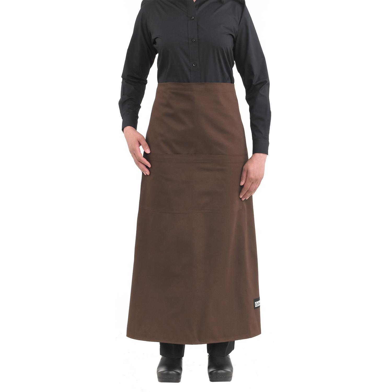 White apron mockup - Wide Tie Bistro Apron 1620