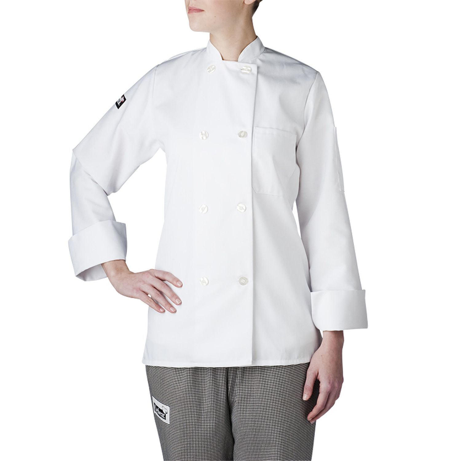 women u0026 39 s long sleeve primary plastic button chef jacket