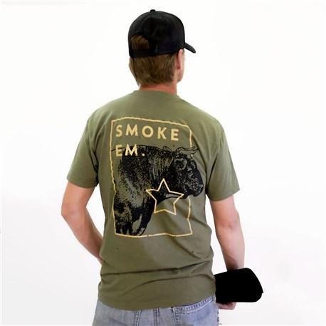 Unisex Slim Smoke Em Soft Crew Neck Tee (CW4666) - Oregano