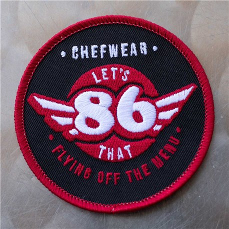 86 Iron-On Chef Patch – Red (86RED)