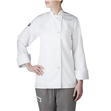 Best Seller - Chefwear (Chef Wear) Women's Long Sleeve Primary Plastic Button Chef Jacket (4420)