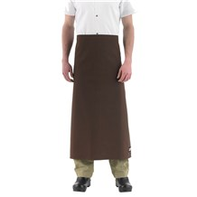 -Wide-Tie Waist Chef Apron w/o Pocket (1615)
