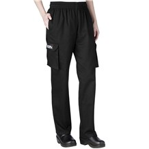 Women's Low Rise Cotton Cargo Chef Pants (3250)