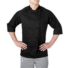 Lightweight Cotton 3/4 Sleeve Chef Coat (4025)