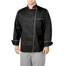 Long Sleeve Piped Executive Royal Cotton Chef Coat (4100)