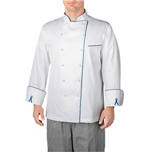 -Long Sleeve Piped Executive Royal Cotton Chef Coat (4100)