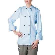 -Women's Long Sleeve Primary Plastic Button Chef Jacket (4420)