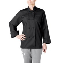 Women's Modern Long Sleeve Essential Cloth Knot Chef Coat (CW4430)
