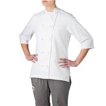 Women's 3/4 Sleeve Lightweight Cotton Chef Jacket (5025)