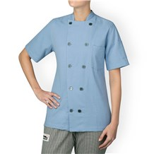 -Women's Five Star Seersucker Chef Jacket (5035)