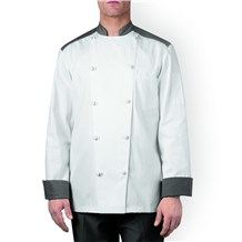 -Five Star Color Block Chef Jacket (5130)