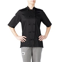 -Women's Short Sleeve Lightweight Cotton Chef Jacket (5250)