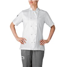 Women's Short Sleeve Lightweight Cotton Chef Jacket (5250)