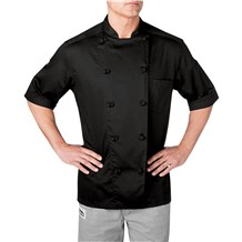 Unisex Classic Short Sleeve Cotton Chef Coat Knot Buttons (CW5551)