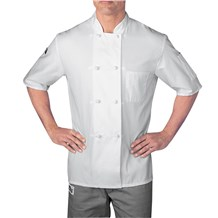 Short Sleeve Cloth Knot Button Chef Jacket (5610)