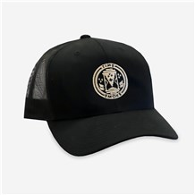 Time & Smoke Black Trucker Cap (CW1494) - Black