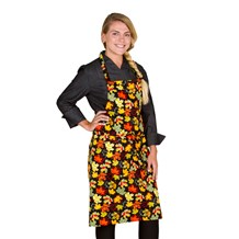 Classic Cotton Bib Apron (CW1650H) [Fall Kaleidoscope]