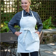 Women's Adjustable Neck Bib Apron With Kangaroo Pocket (CW1667)
