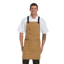 Canvas Multi Pocket Cross-Back Bib Apron (CW1686)