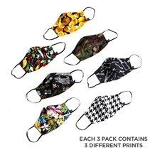 Face Mask with Elastic Ear Bands (CW1810) - Variety - 3 Pack