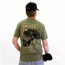 Smoke Em Soft Crew Neck Tee (CW4666) - Oregano
