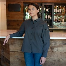 Women's Relaxed Long Sleeve Seersucker Shirt (CW5032)