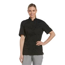 Women's Short Sleeve Vented Lightweight Chef Coat (CW5666)