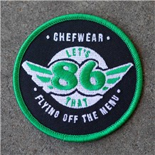 86 Iron-On Chef Patch – Green (86GRN)