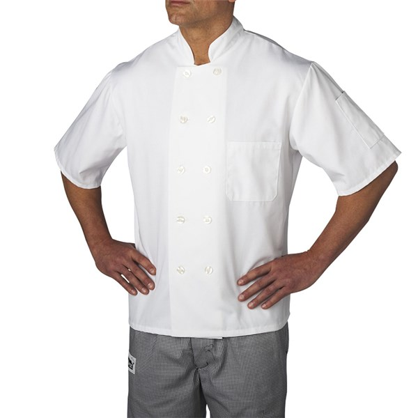 Primary Plastic Button Chef Jacket (CW4455)