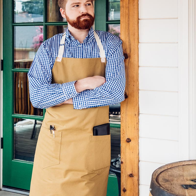 FOH or BOH, these waist and bib aprons work hard as you.
