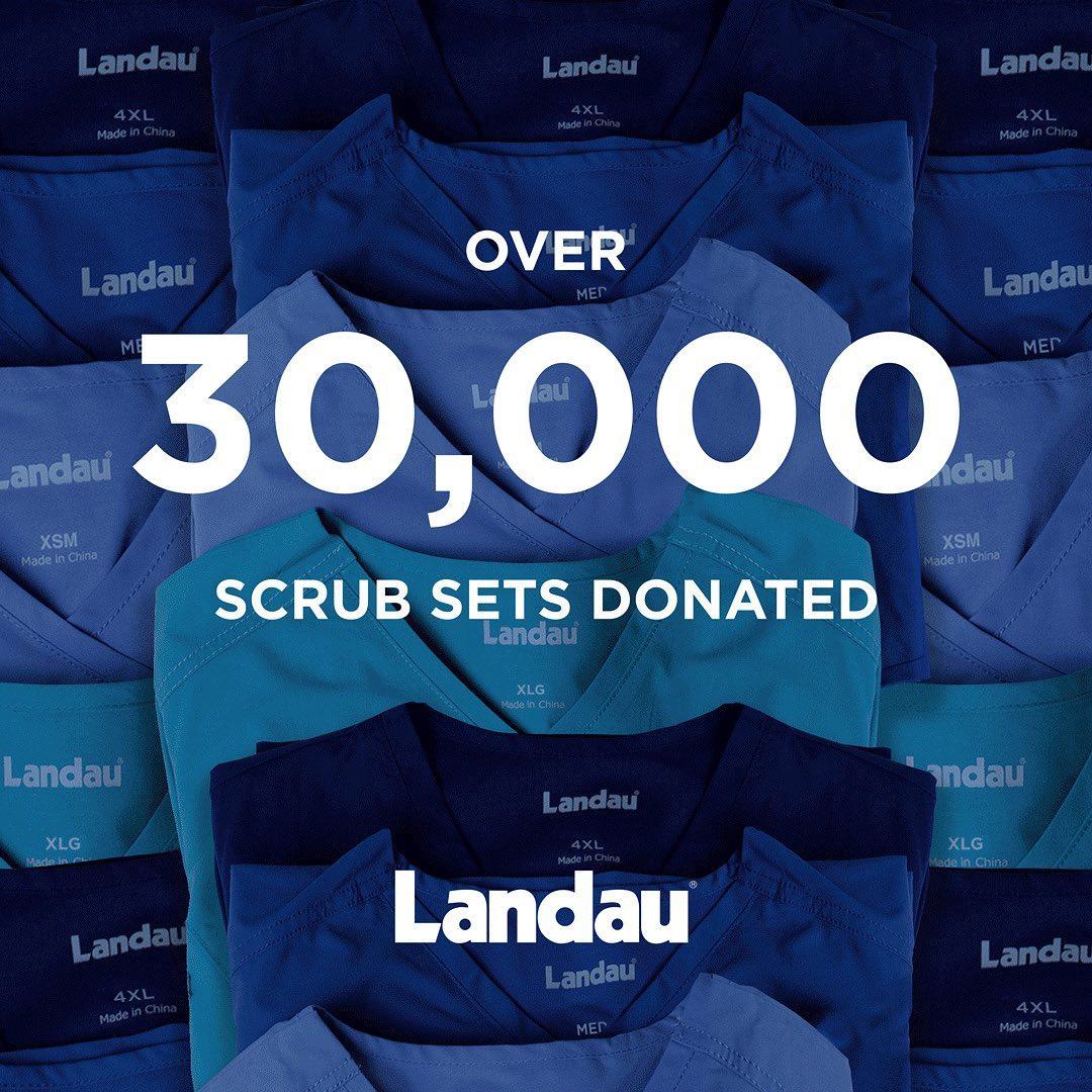 30000 Scrubs Donation Landau Chefwear Uniforms