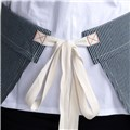 The XL Waist Apron (CW1679) - Tall and Big - Stripe - White Tie