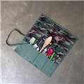 Canvas Knife Roll (CW2435) - Knife Bag - Army Green - 13 knifes - Inside View