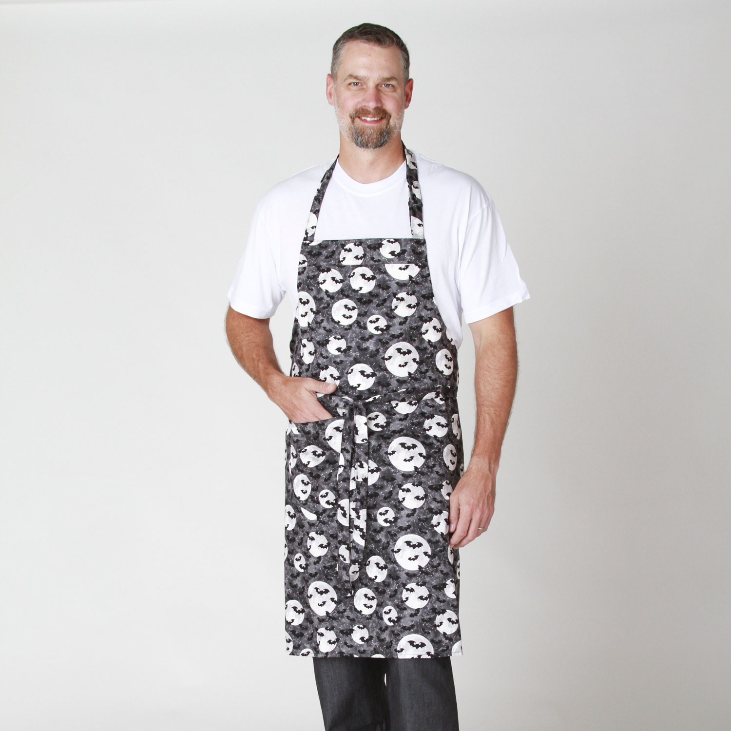 Cotton Chef Aprons with Halloween Print