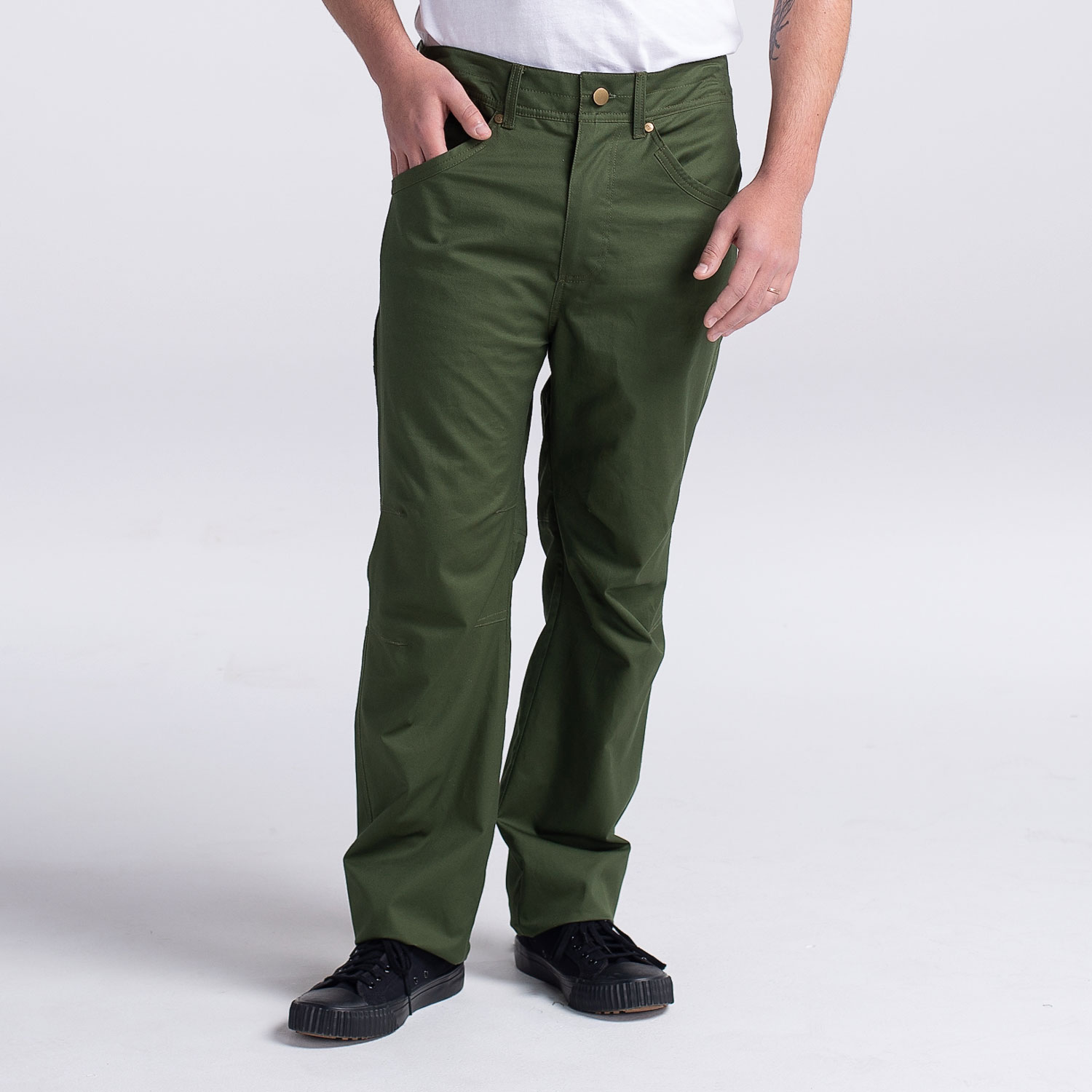 Men's Best Chef Pant (CW3521) - Color Army Green - Front