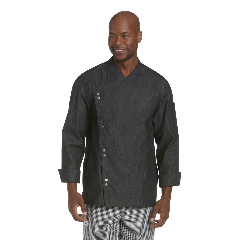 Lightweight Denim Crossover Chef Jacket Cw5886 Chefwear