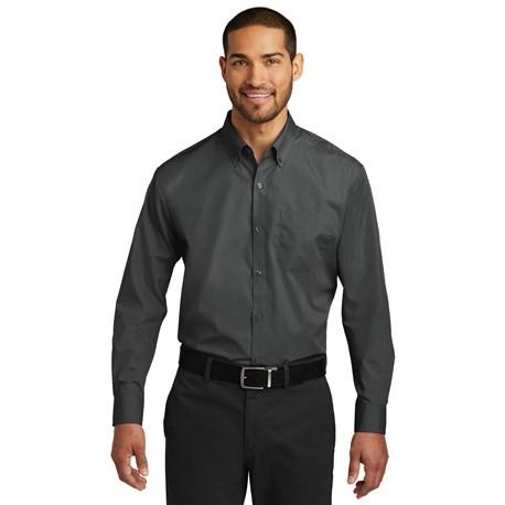 Men's Slim Long Sleeve Carefree Poplin Shirt (CW1337)