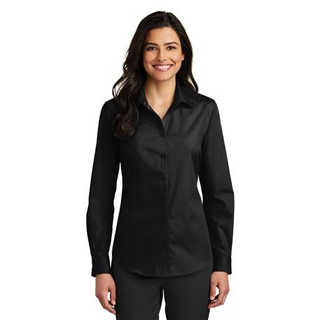 Women's Slim Long Sleeve Carefree Poplin Shirt (CW1338)