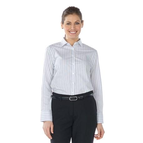 Women's L/S Double Stripe Blouse (CW1348)