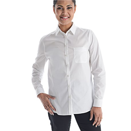 Women's Slim Long Sleeve Stretch Poplin Shirt (CW1361)