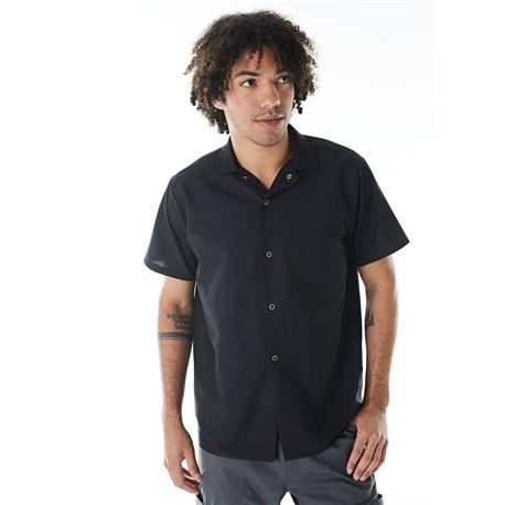 Unisex Modern Short Sleeve Snap Front Shirt (CW1390)