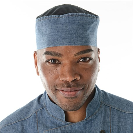 Unisex Stretch Cooling Chambray Skull Cap (CW1435)