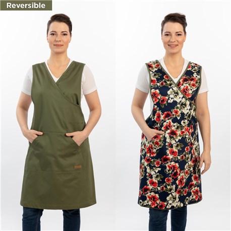 Women's Reversible Artisan Apron (CW1668) - Oregano