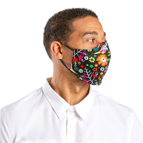 Face Mask with Elastic Ear Bands (CW1810) - Kaleidoscope - 3 Pack