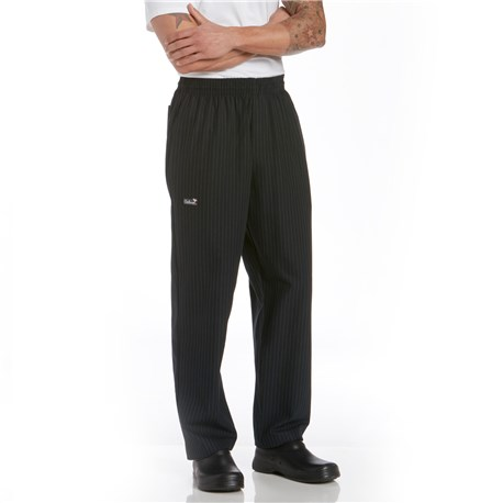 Chefwear (Chef Wear) Traditional Cotton Chef Pants (CW3100) - Black