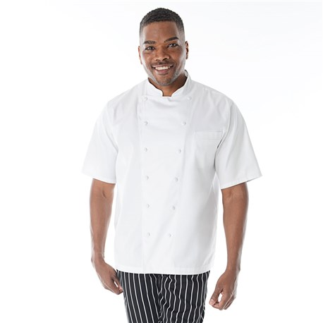 Unisex Modern Short Sleeve Executive Royal Cotton Chef Coat (CW4050)