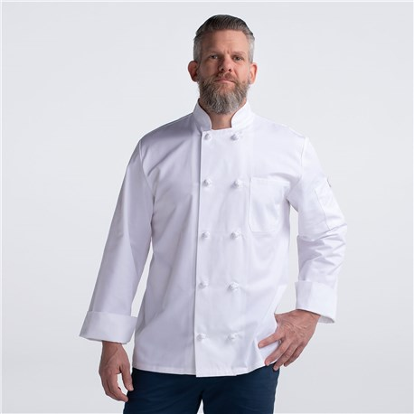 CW4400-CW40-01_Chefwear-Long-Sleeve-Cloth-Knot-Button-Chef-Jacket_White