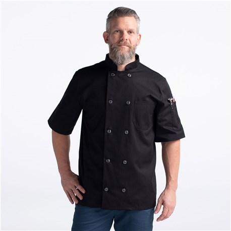 Unisex Classic Short Sleeve Essential Plastic Button Chef Coat (CW4455)
