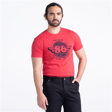 86 Super Soft Crew Neck Tee (CW4660) - Red Chef Tee
