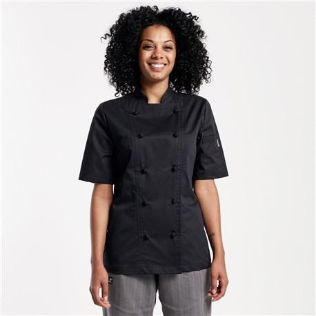 Women's Modern Short Sleeve Lightweight Stretch Chef Coat (CW5122)